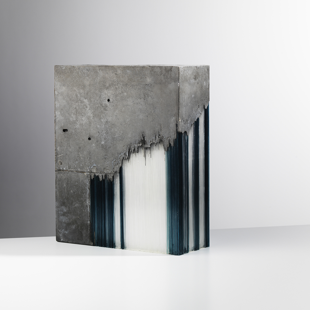Glass and concrete Sculpture