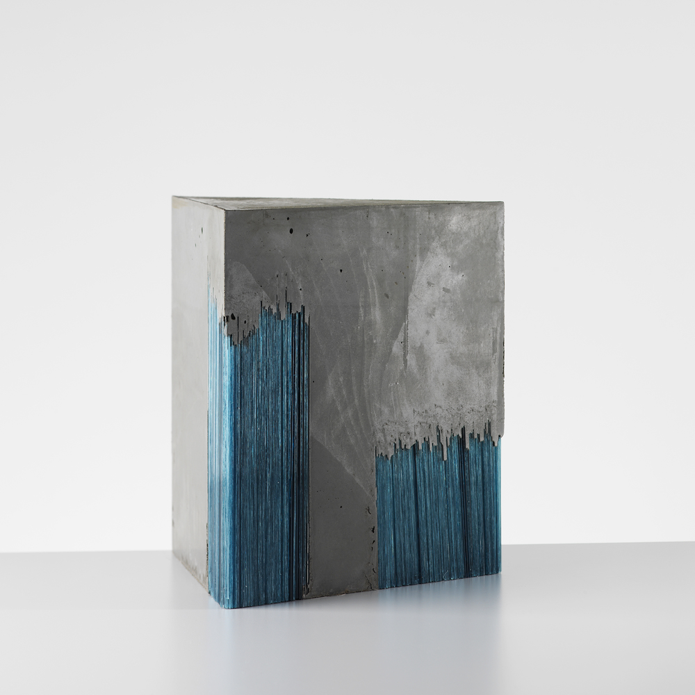 Harry Morgan Concrete and glass sculpture